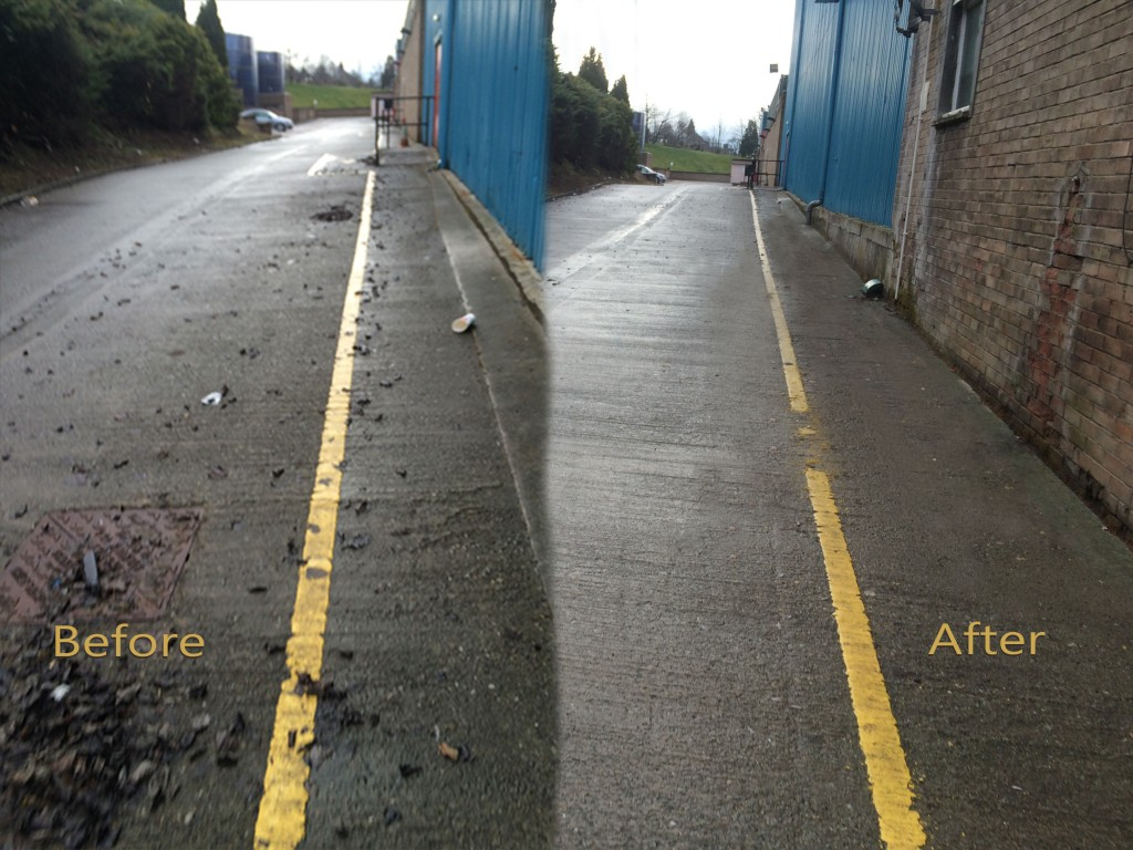 before after litter pick side