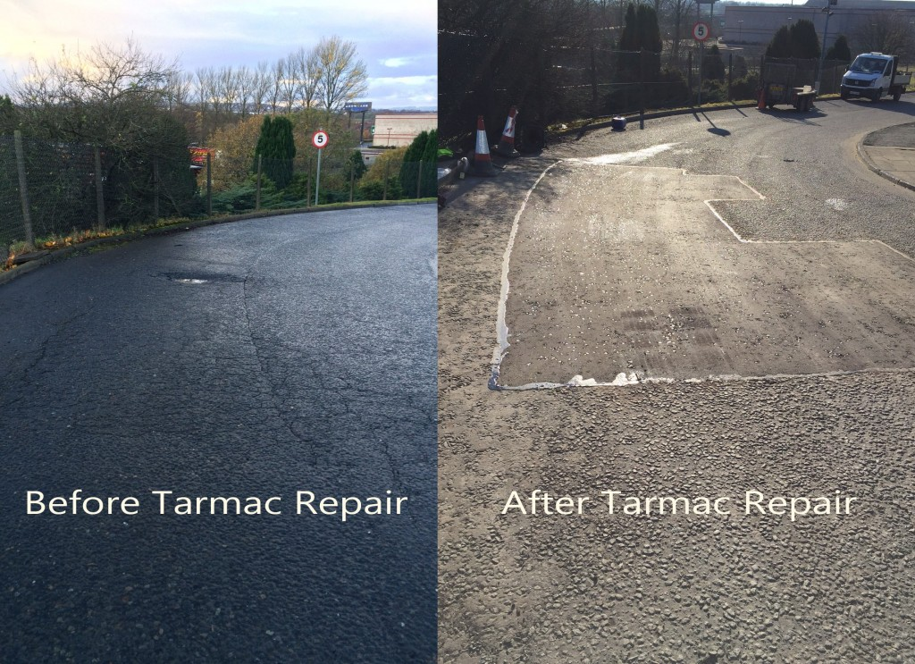 before after tarmac repairs front