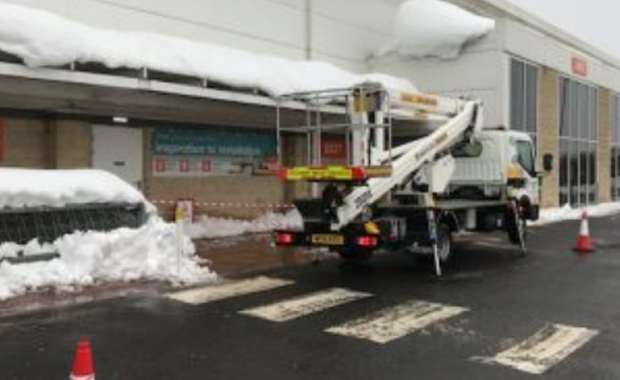 Removal of Snow from Canopy