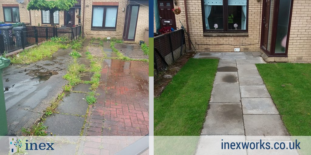 ferguslie park garden makeover before and after